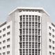 Banco Exterior de España en Valencia, edificio de nueva planta. 1965