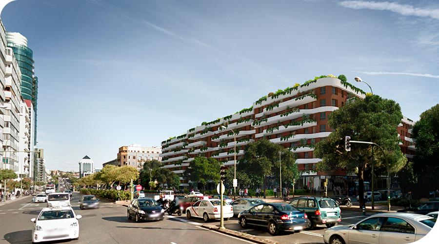 Edificio de 334 viviendas, garages, trasteros y locales comerciales en Madrid, Raimundo Fernández Villaverde 50