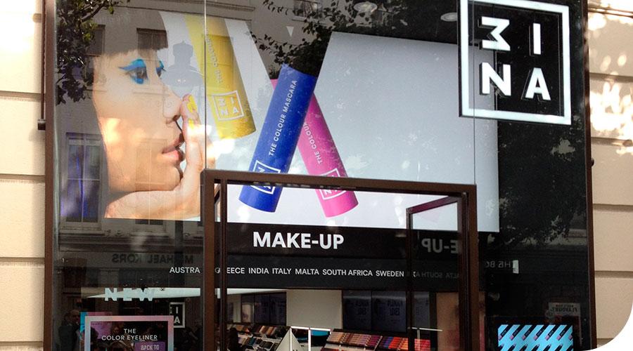 Tiendas para MINA cosméticos